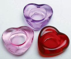 Heart Shaped Glass Tealight