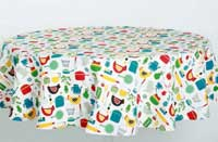 Betty&#039;s Kitchen Round Tablecloth