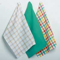 Betty's Kitchen Plaid Dishtowels (Set of 3)