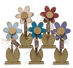 Wooden Flower Figurine