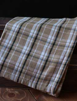 Brown Plaid Dishtowel