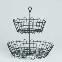 Two-Tier Wire Serving Basket