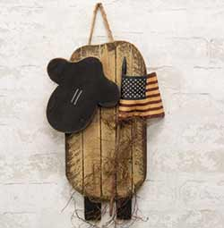 Lath Sheep Hanger with Flag