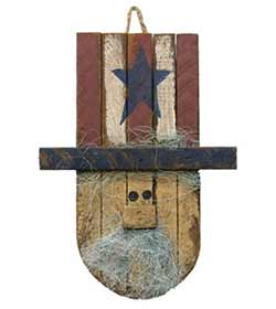 Lath Uncle Sam Head Hanger