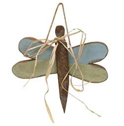 Teal Wood Dragonfly Hanger