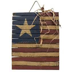 Primitive Lath America Flag Wall Decor