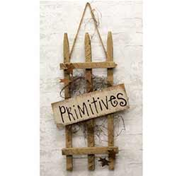 Primitives Picket Fence Sign