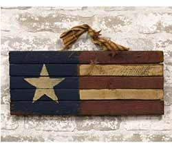 Primitive Lath America Flag Sign - 16 inch
