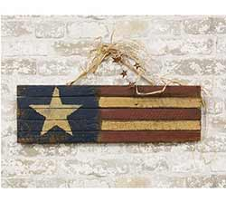 Primitive Lath America Flag Sign - 24 inch