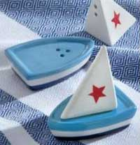 Sailboat Salt & Pepper Shaker Set