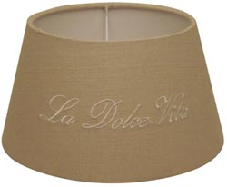 Dolce Vita Round Lamp Shade in Natural - 10 inch