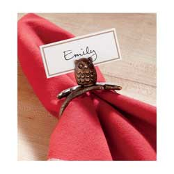 Owl Napkin Ring / Placecard Holder