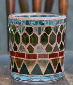 Plymouth Mosaic Glass Votive