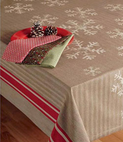 Nordic Snowflake Tablecloth, 60 x 84