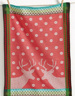 Deer Country Jacquard Dishtowel