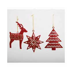 Nordic Winter Metal Ornament