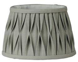 Grey Pleated Lamp Shade - 12 inch