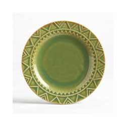Sierra Stoneware Plate - Moss Green