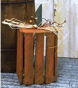 Orange Lath Crate Pumpkin Lantern