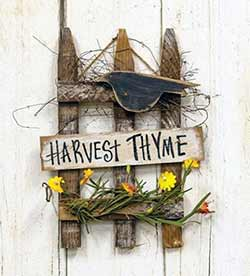Harvest Thyme Picket Fence Sign