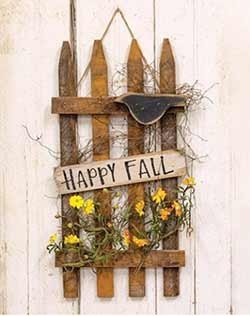 Happy Fall Picket Fence Sign