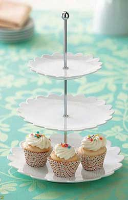 Scalloped 3-Tiered Server