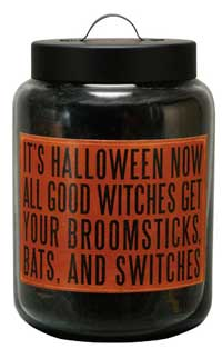 Spice Jar Candle with Halloween