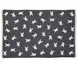 Black Primitive Star Rug - 20 x 30 inch