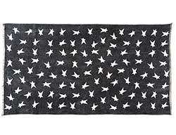 Black Primitive Star Rug - 27 x 48 inch