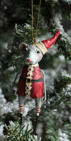 Christmas Mouse Ornament - Boy