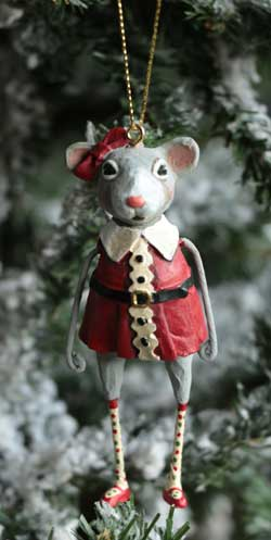 Christmas Mouse Ornament - Girl
