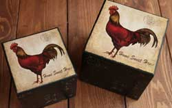 Wooden Rooster Box
