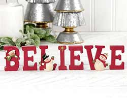 Believe Letters With Snowmen
