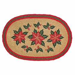 Poinsettia Braided Placemats (Set of 6)