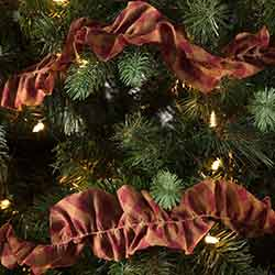 Burgundy Check Garlands (Set of 3)
