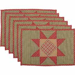 Dolly Star Quilted Placemats (Set of 6)