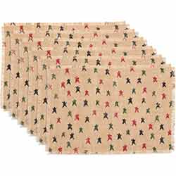 Primitive Star Jute Placemats (Set of 6)