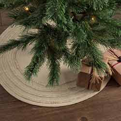Burlap Vintage Christmas Tree Skirt - Mini