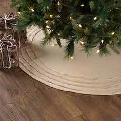 Burlap Vintage Christmas Tree Skirt - 48 inch