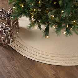 Burlap Vintage Christmas Tree Skirt - 55 inch
