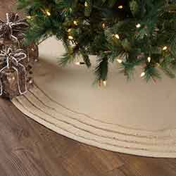 Burlap Vintage Christmas Tree Skirt - 60 inch