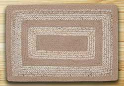 Raw Sugar & Ecru Braided Jute Rug - 27 x 45 inch (OVAL)