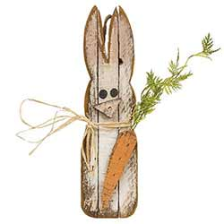 Lath Bunny with Carrot Hanger
