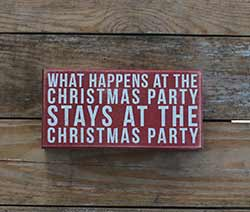 Christmas Party Box Sign