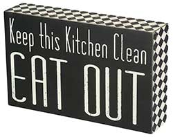 Eat Out Box Sign