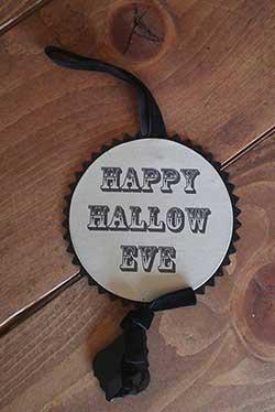Halloween Disc Ornament - Happy Hallow Eve