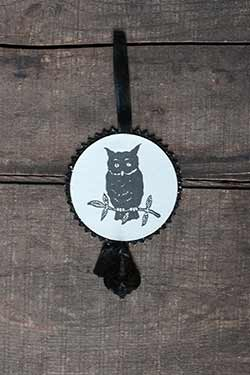 Halloween Disc Ornament - Owl