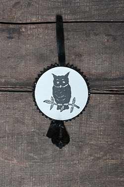 Halloween Disc Ornament - Owl
