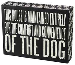 Comfort Dog Box Sign