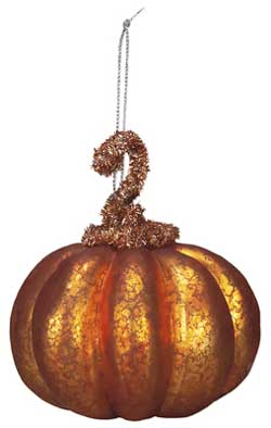 Orange Glass Pumpkin